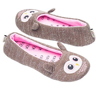 90c6914f7e36f Ofoot Cute Cartoon Cozy Ballerina Frog Slippers For Women,Cashmere Knit  Animal Ball Room Shoes For Ladies/Girls,Soft Anti-Slip TPR Sole Review
