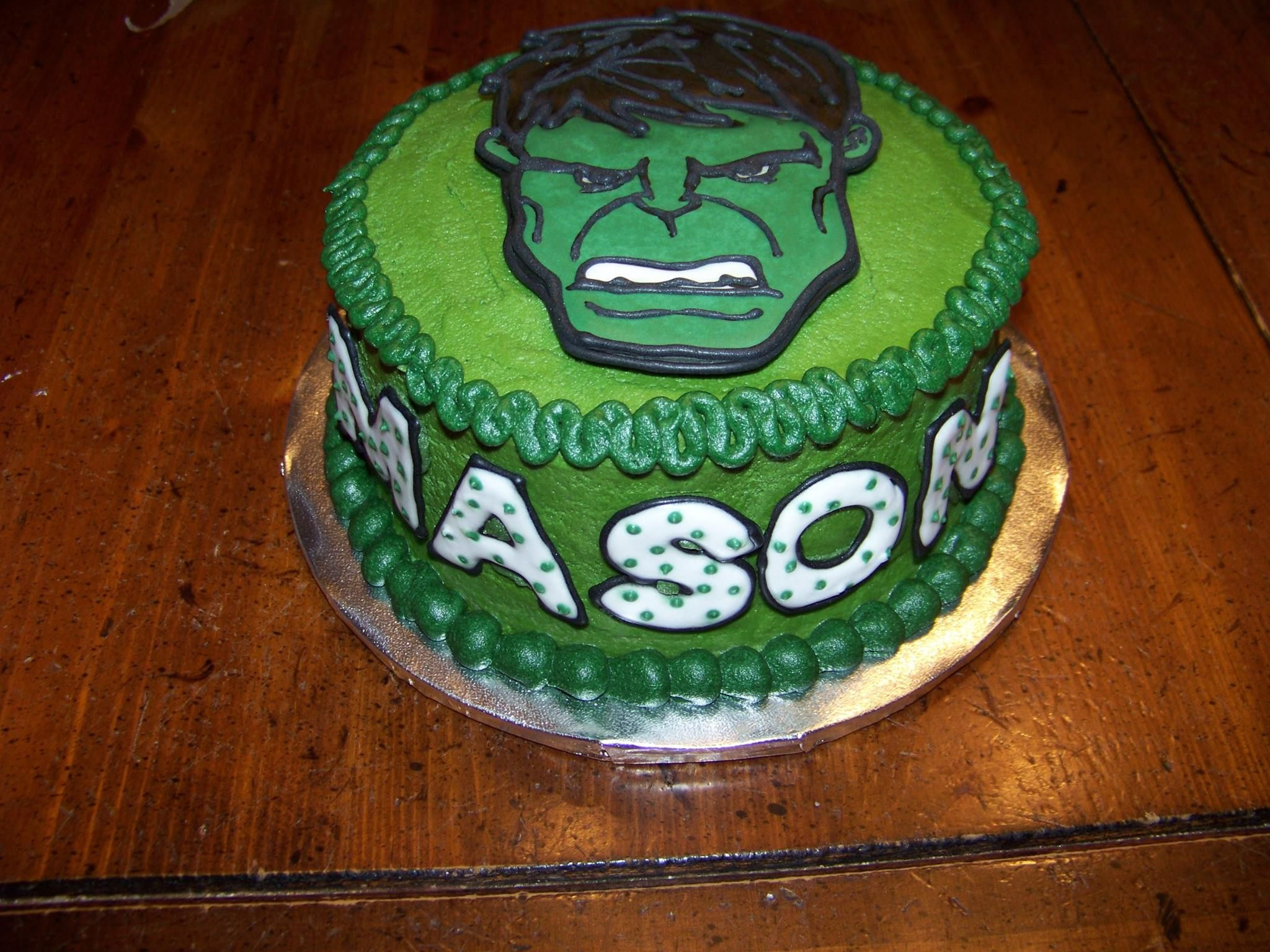 Incredible Hulk Smash Cake 1st Birthday Color Flow Candies Party