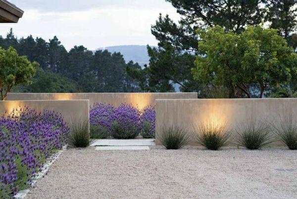 Gartenmauer design ideen beleuchtung