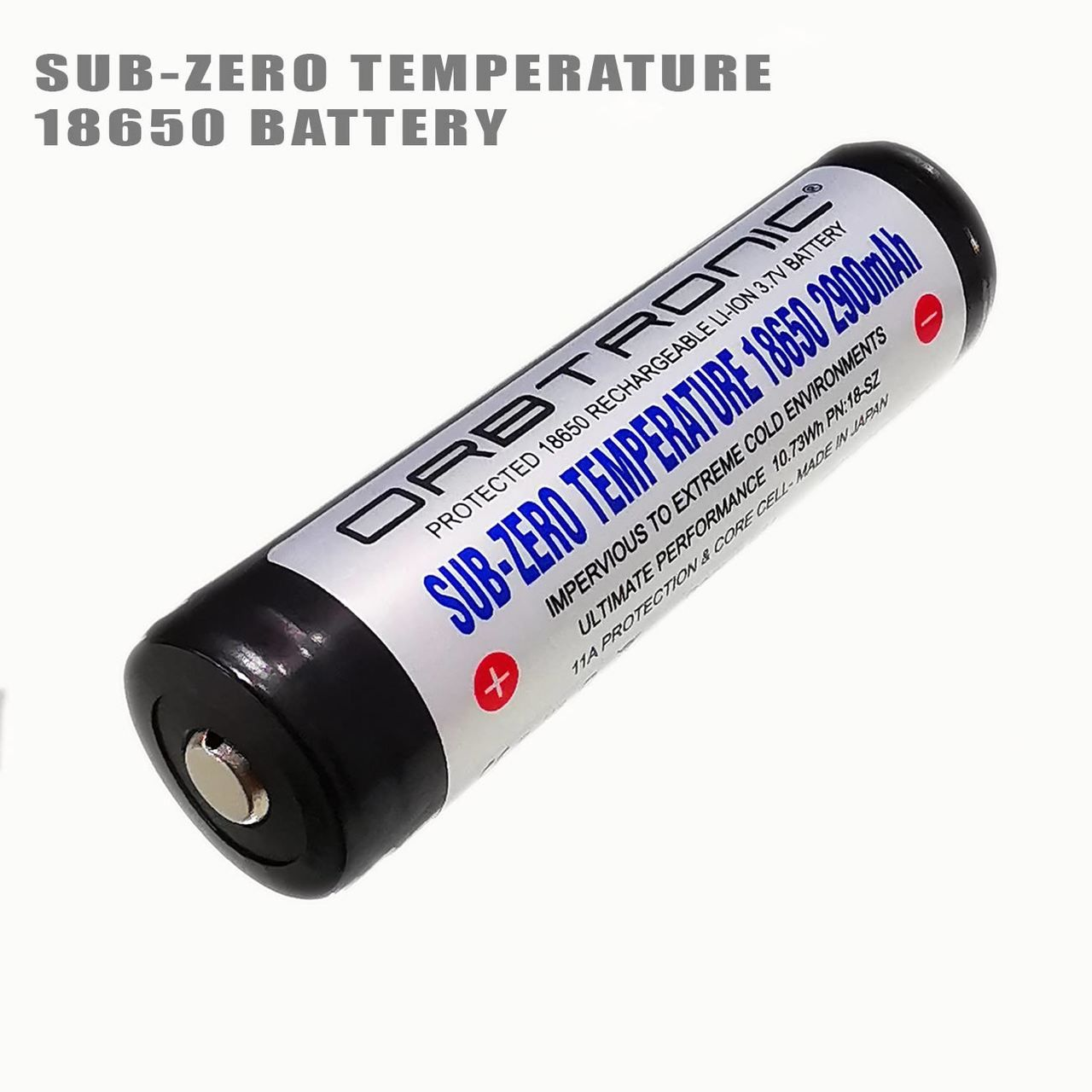 Sub Zero Low Temperature 18650 Protected High Performance Li Ion 3 7v Battery Rechargeable Energy Density Temperatures Recharge