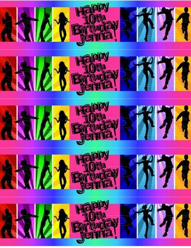 Personalized Zumba Dance Printable Water Bottle Labels Lucy and - copy zumba punch card template free