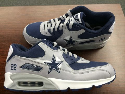 dallas cowboys custom nike air max shoes