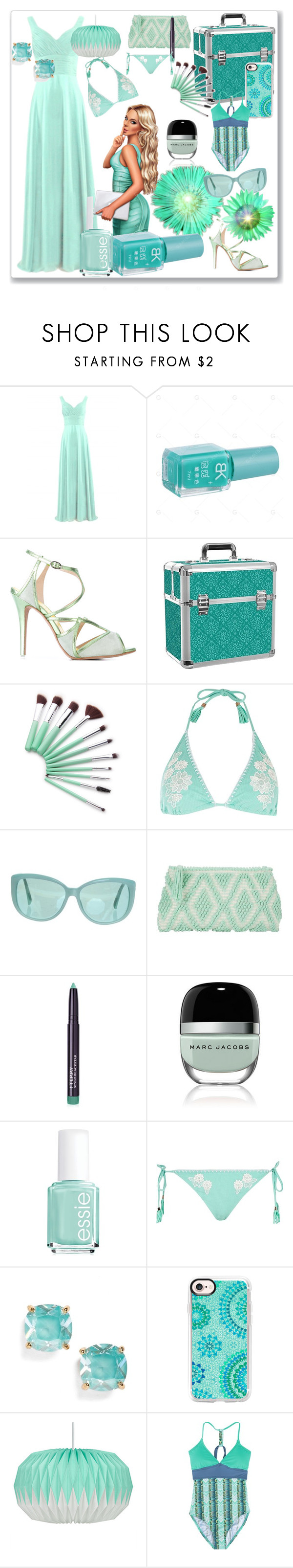 """""""Mint"""" by robbys73 on Polyvore featuring moda, Francesca Mambrini, River Island, Linda Farrow, Antonello Tedde, By Terry, Marc Jacobs, Essie, Kate Spade e Casetify"""