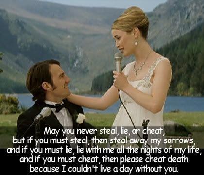 Favorite Movie Quotes Wedding Toast