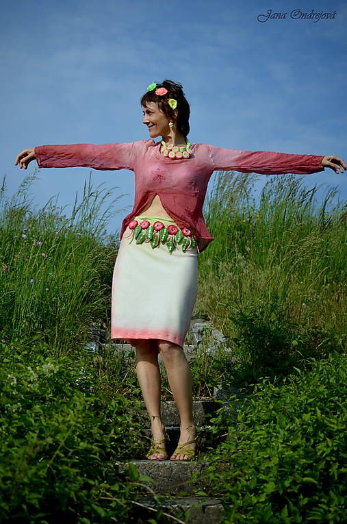 FeltroModa / Sukienka.....taká svieža