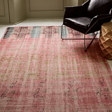 Caspian Distressed Rug, Ombre Pink, 9\'x12\' at West Elm - Rugs - Home ...
