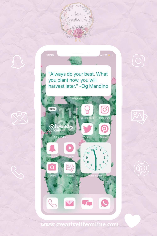 كيفية تغيير شاشة الايفون ايقونات مجانيه Free Icons Creative Life Camera Photo Instagram