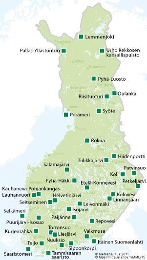 Kansallispuistot Luontoon Fi Kansallispuistot Vaellus Ja Matkailu