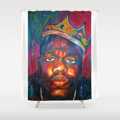 BIGGIE+SMALLS+Shower+Curtain+by+Molly+Forster+-+$68.00
