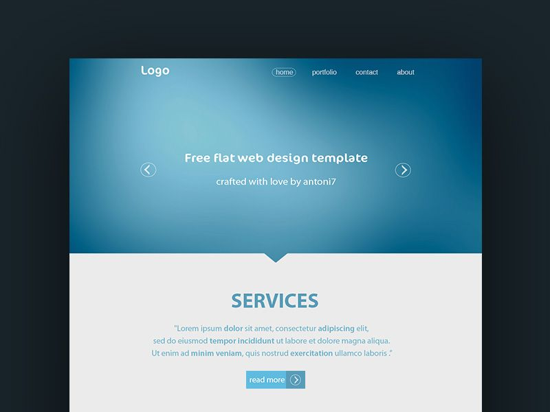 Simple Website Template - This is a simple psd template which you - template