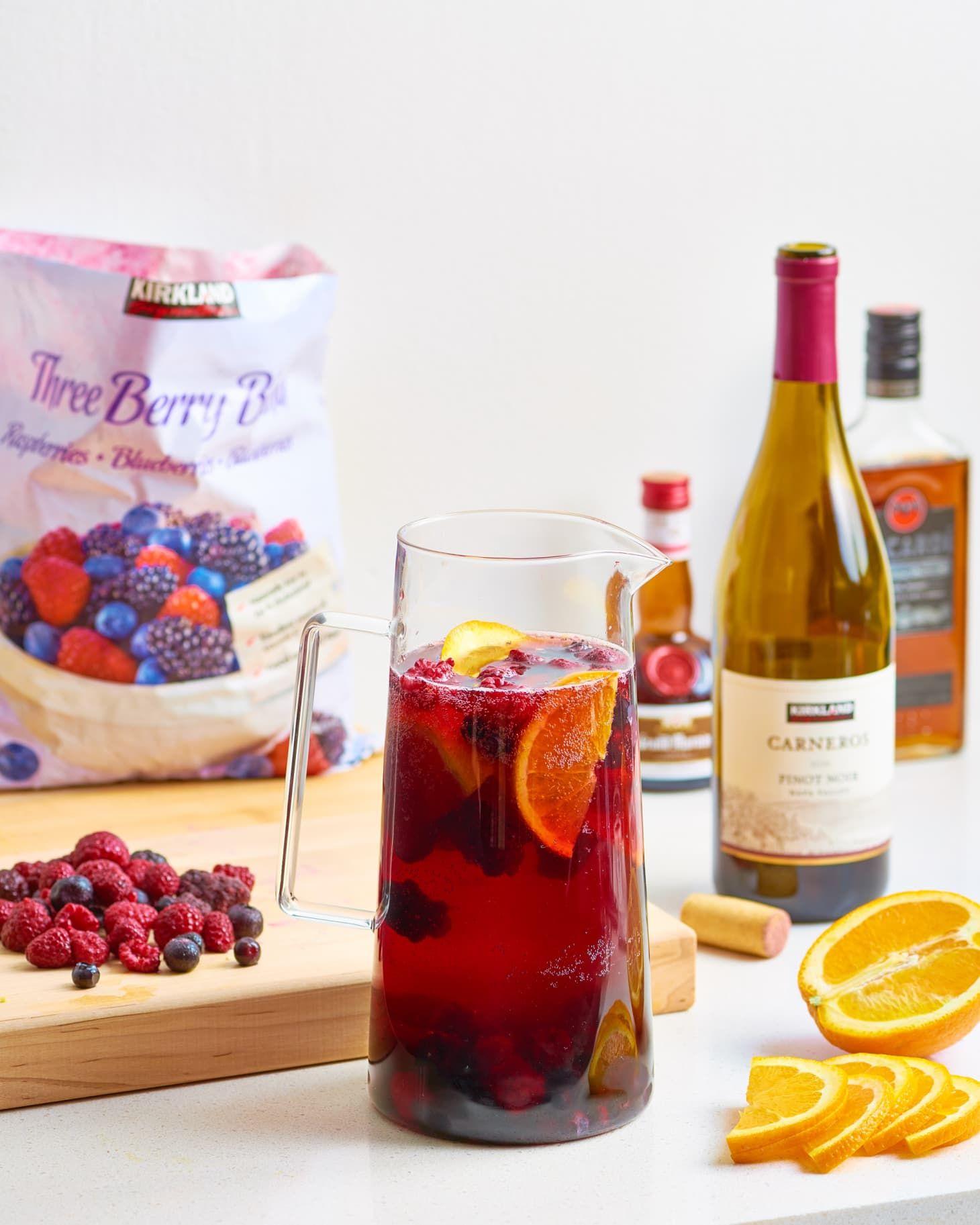 Budget Pitcher Sangria Recipe Holiday Sangria Recipes Sangria Recipes Costco Sangria Recipe