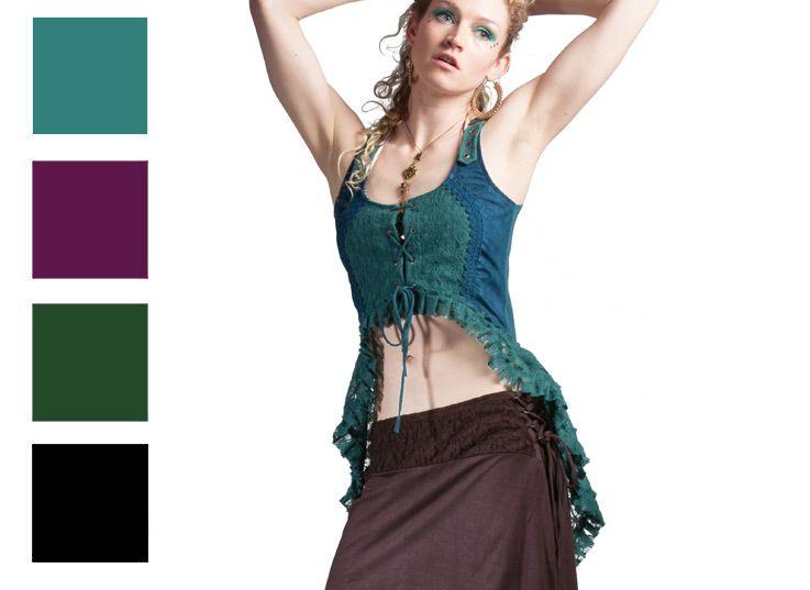 Lace Corset Top High Low Flamenco Steampunk Psy Trance Boho Festival 8 10 12 14 | eBay
