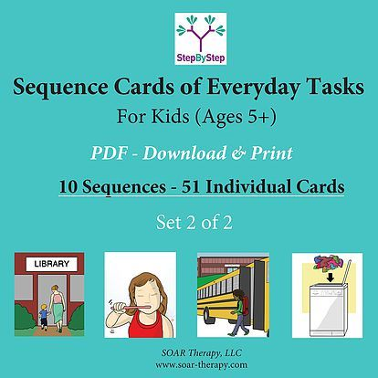 graphic about Printable Sequencing Cards for Adults referred to as PRINTABLE PDFs toward assistance sequencing within ADL Applications for Seniors