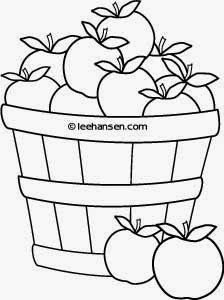 Printable Coloring Book Pages: Apples in Baskets Signal
