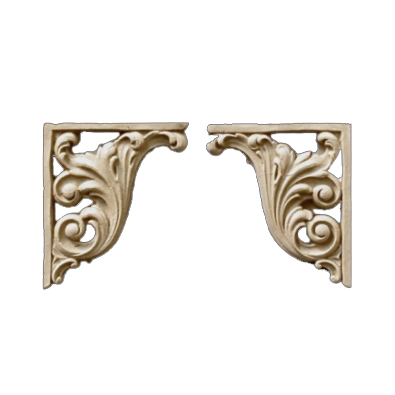 High Quality Decorative Composition Stair Brackets | Design #SB F866 6