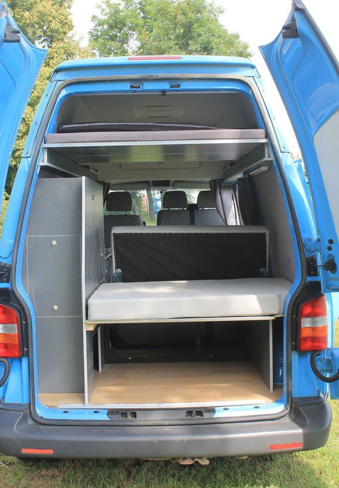 vw t 5 festes polyroof hochdach mit bett ausbau und. Black Bedroom Furniture Sets. Home Design Ideas