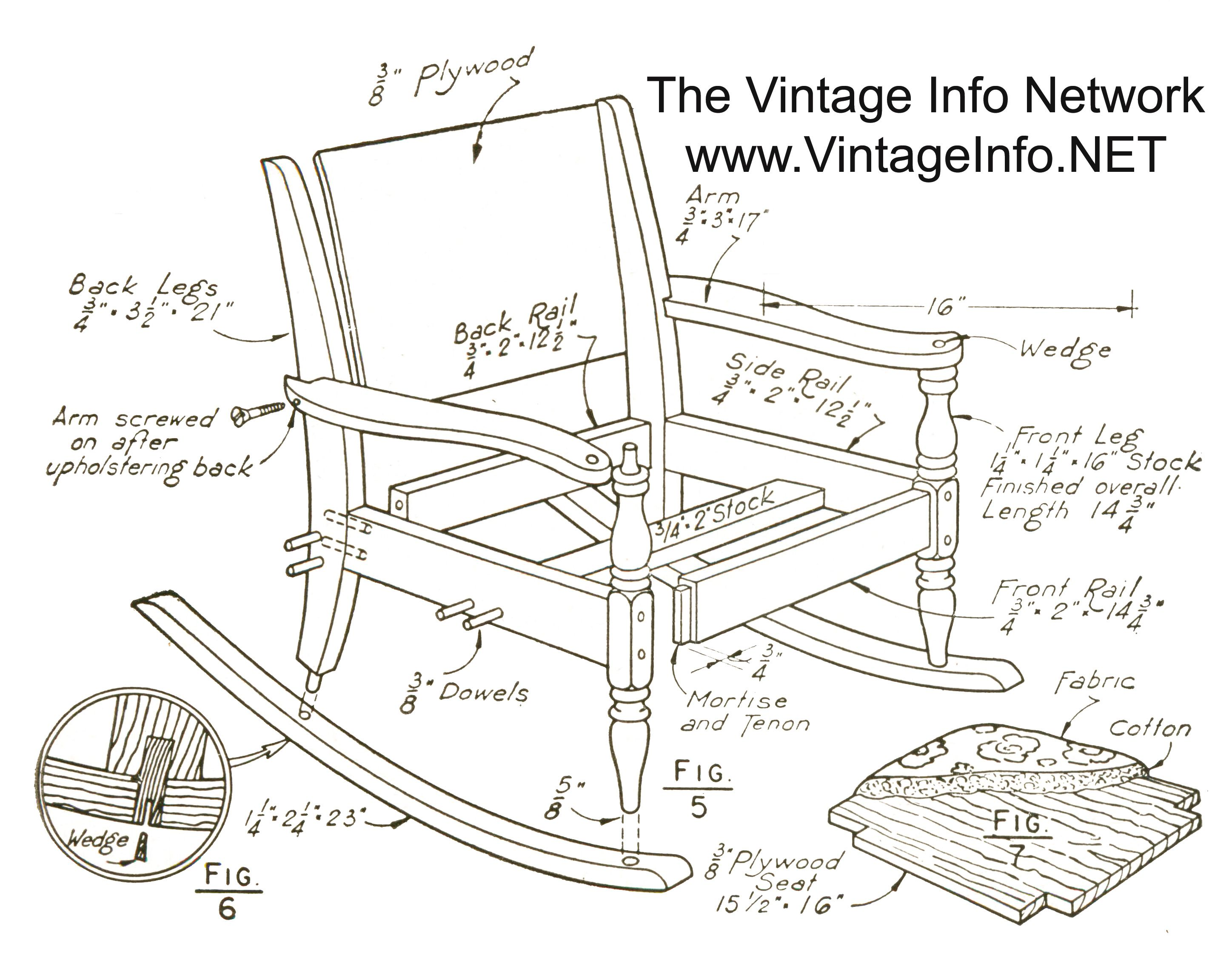 Permalink To Wooden Rocking Chair Plans