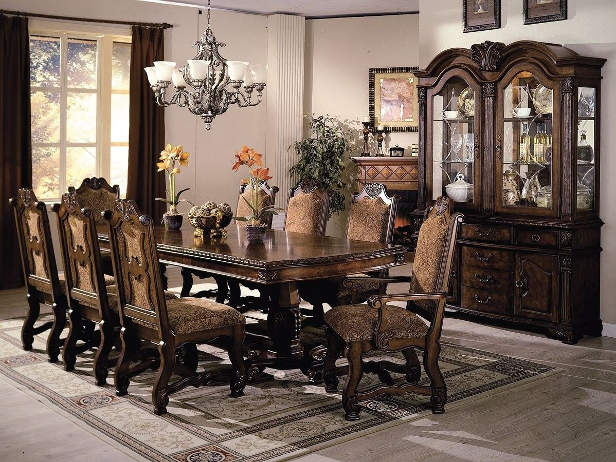 Neo Renaissance Dining Room Set Formal Dining Room Sets Dining Room Table Set Double Pedestal Dining Table