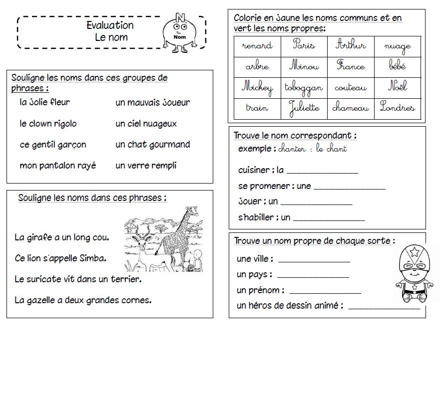 Valuation sur le nom nom propre et commun grammaire conjugaison french grammar grammar - Grammaire ce1 a imprimer ...