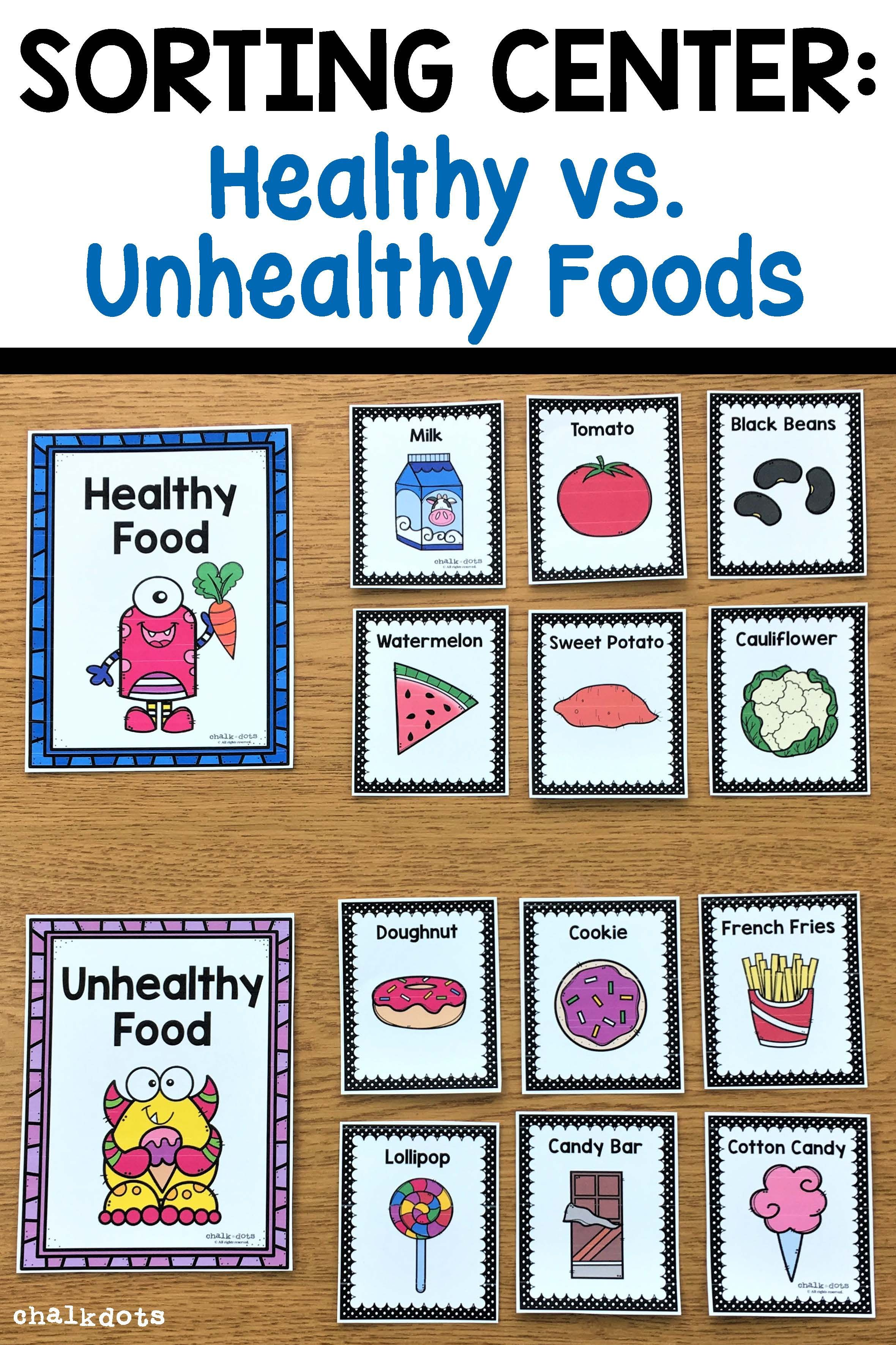 Food Group Sorting AND Healthy vs Unhealthy Food Sorting   Healthy food  activities for preschool [ 3540 x 2360 Pixel ]