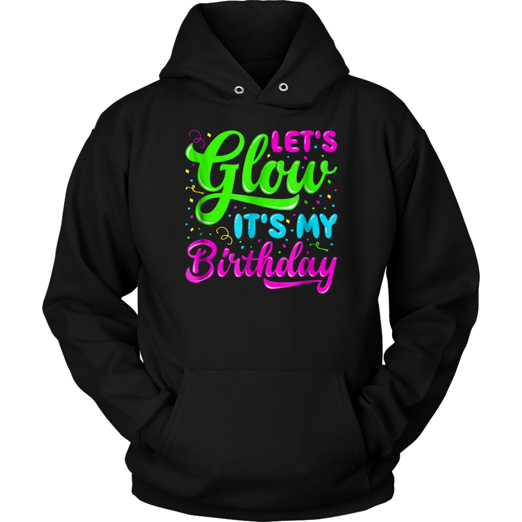 Glow Party Clothing T Shirt Birthday Shirts Front Back