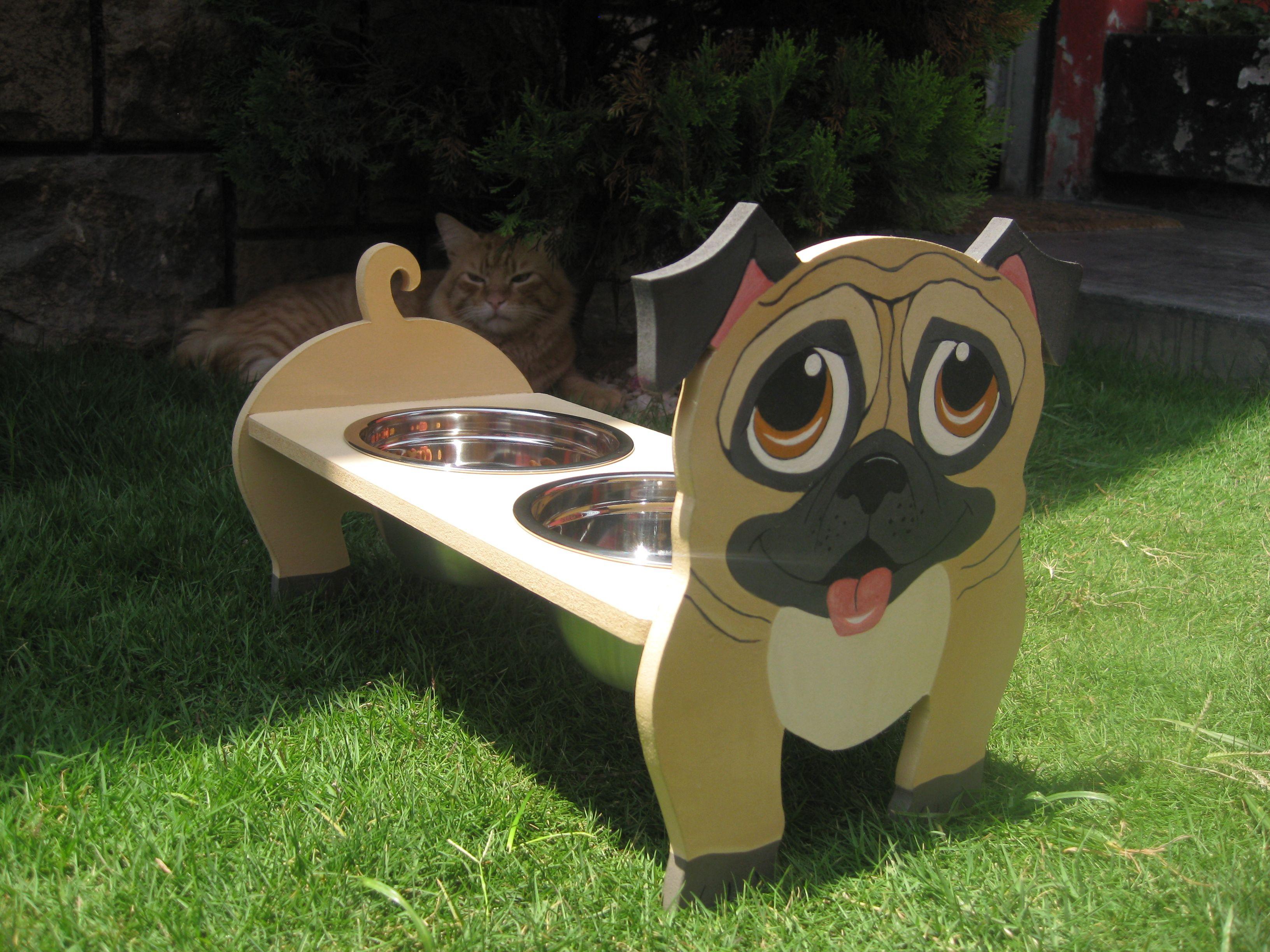 Comederos para pugs cel 956767160 mascotas pinterest for Comederos para perros