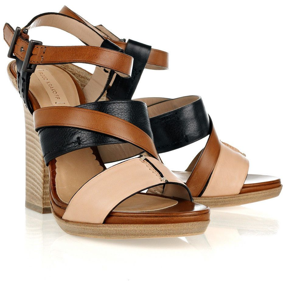 order cheap price Reed Krakoff Leather Ankle Cuff Sandals outlet official discount hot sale sale low cost sale top quality IuHScUH