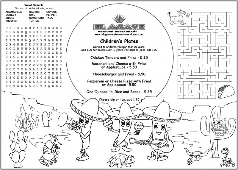 Free Printable Restaurant Menu Templates New Childrens ...