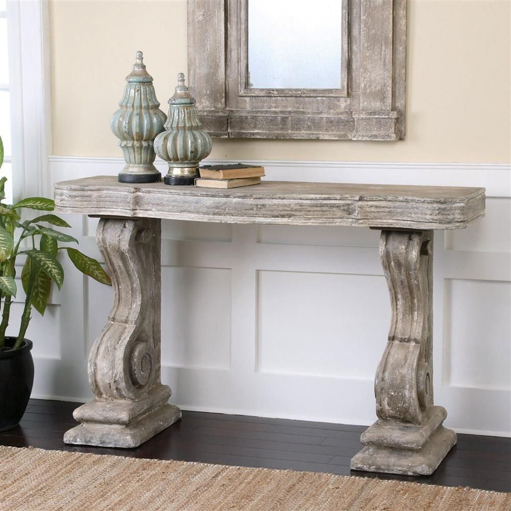 Lisette french country antique grey stone carved console table lisette french country antique grey stone carved console table geotapseo Gallery