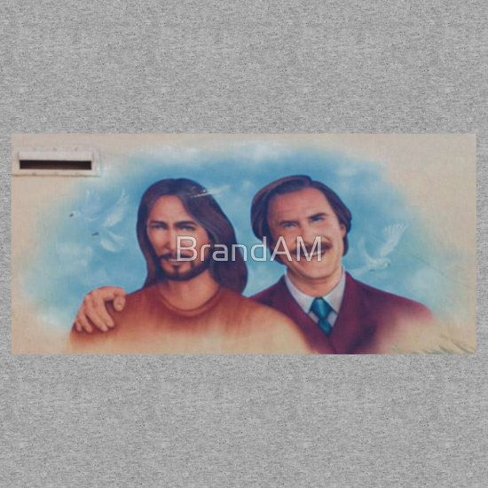 Ron Burgandy And Jesus Mobile Merchandise I told you it was coming. #RonBurgandy and #Jesus Mobile sticker for $4 and #tshirt for $30. Get'em now and be the first to rock it.