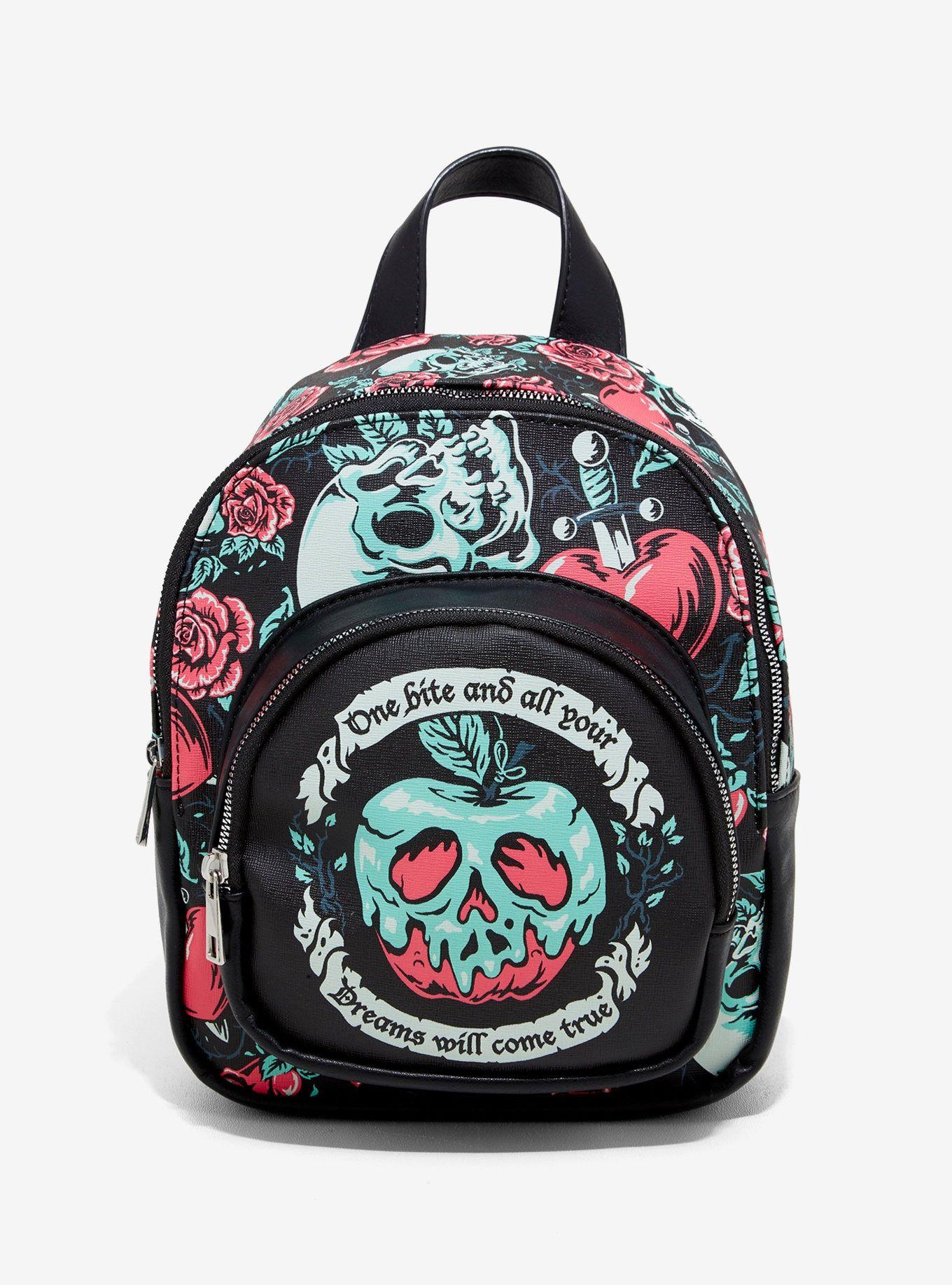 Disney villains evil queen poison apple mini backpack in