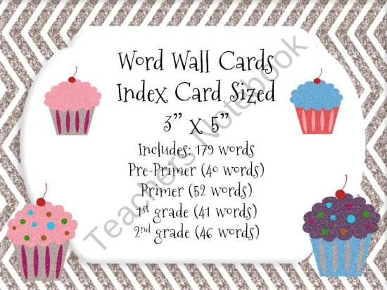 index card size in word