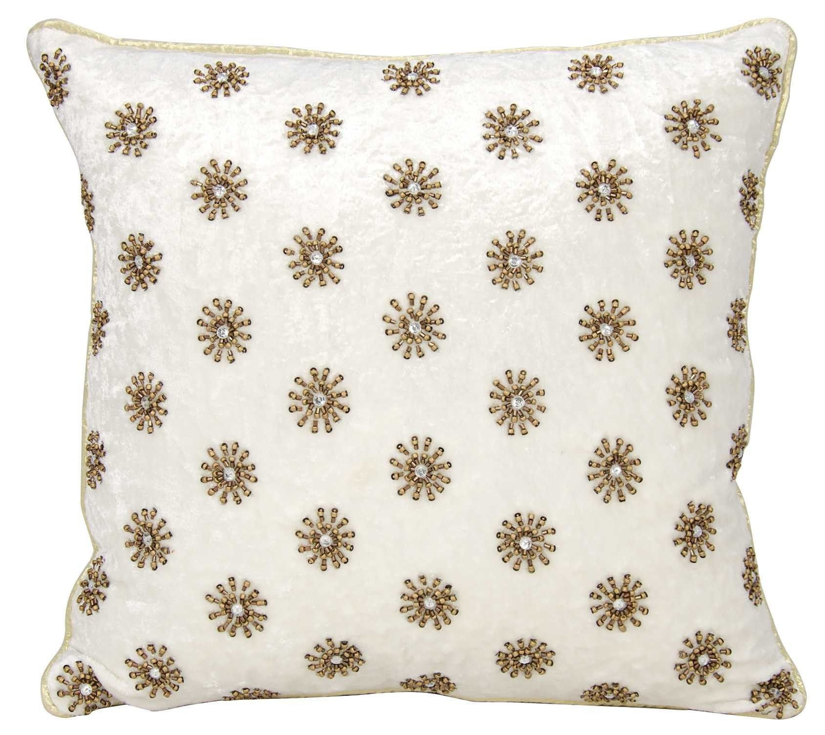 Pillows Mina Victory Couture Luster Sun Shimmer Ivory Throw Pillow