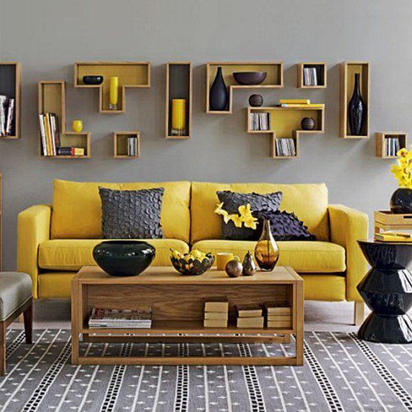 Living room yellow  gray design ideas livingroom also pinterest rh
