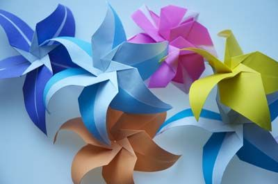 Star flowers origami pinterest origami flowers and origami star flowers mightylinksfo