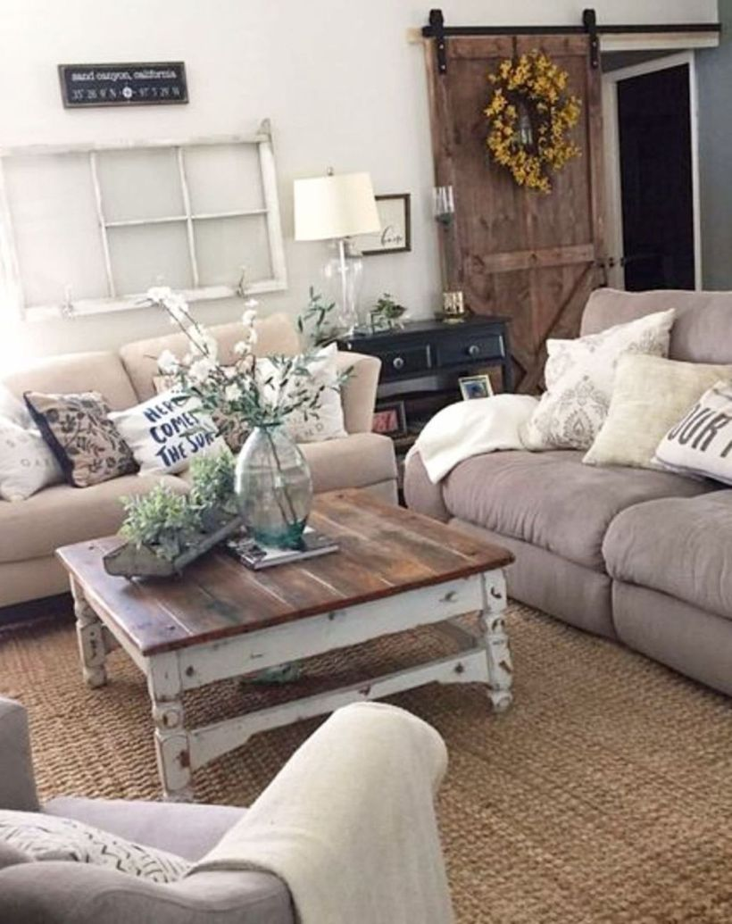 46 Rustic Modern Living Room Ideas images