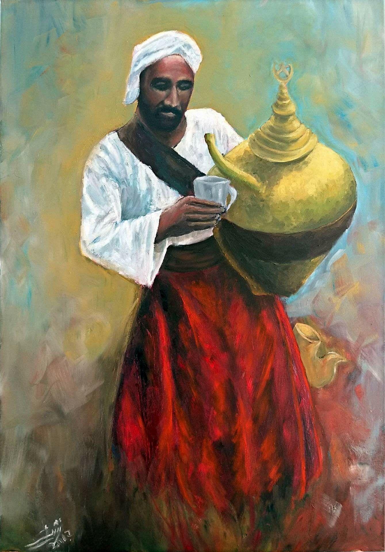 بائع العرق سوس الفنان نشأت عبدالمولى 2017 Oil On Canvas 100 X 70 Nashaat Abdelmawla Egyptian Art Egyptian Egypt