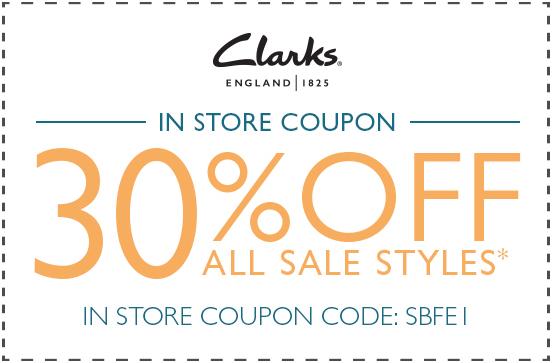 09248204a1ec Clarks Promo Codes  20% Off Coupon