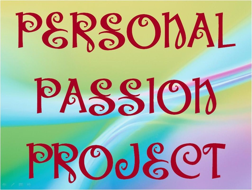 Personal Passion Project Powerpoint By Margd Plus