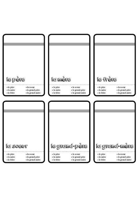 Ideal Modèle de carte - Jeu de 7 famille - créer son propre jeu | Jeux  RC65