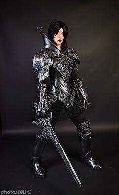 cosplay dark souls iii black knight cosplayer silver