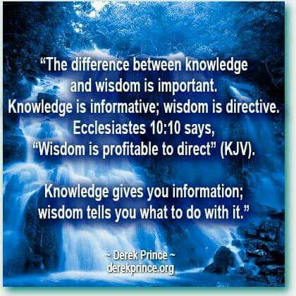 The Difference Between Know And Wisdom Is Important Knowledge Is
