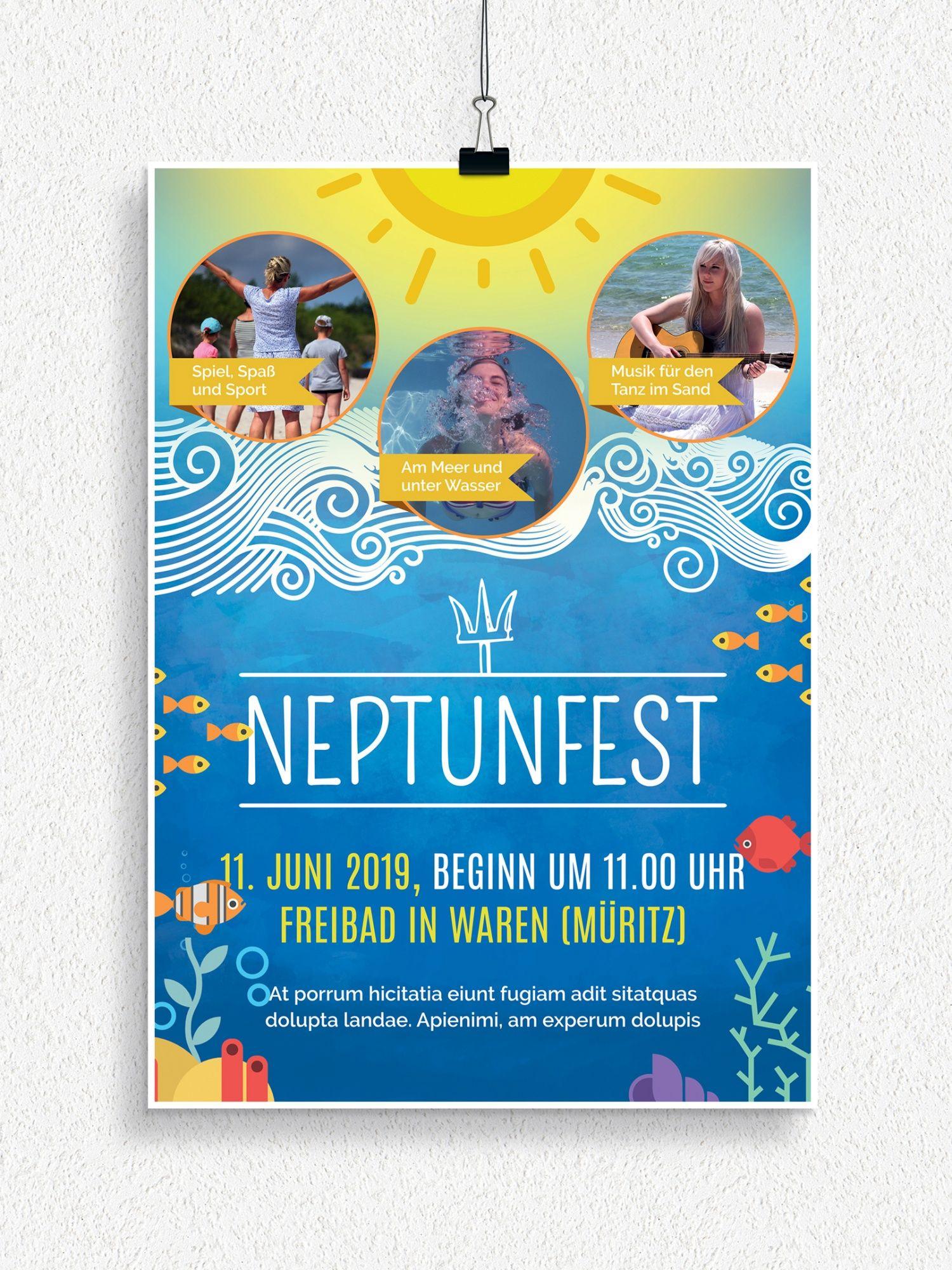 Photo of Flyer- og plakatmaler for Neptune Festival og Children 's Day