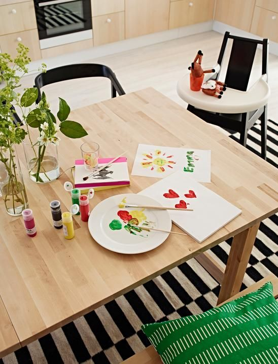 best let our bjursta birch table be your canvas with ikea table extensible bjursta. Black Bedroom Furniture Sets. Home Design Ideas
