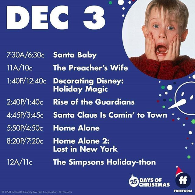Freeform 25 Days of Christmas : December 3  #freeformtv #December3 #25daysofchristmas #christmasmovies #christmas2019 #christmas #holiday