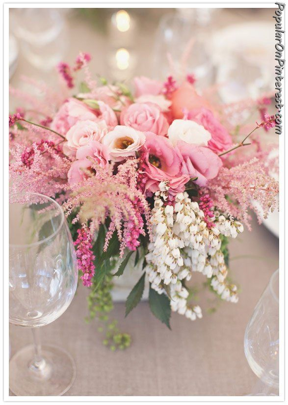 Pink roses centerpiece home decor pinterest see more