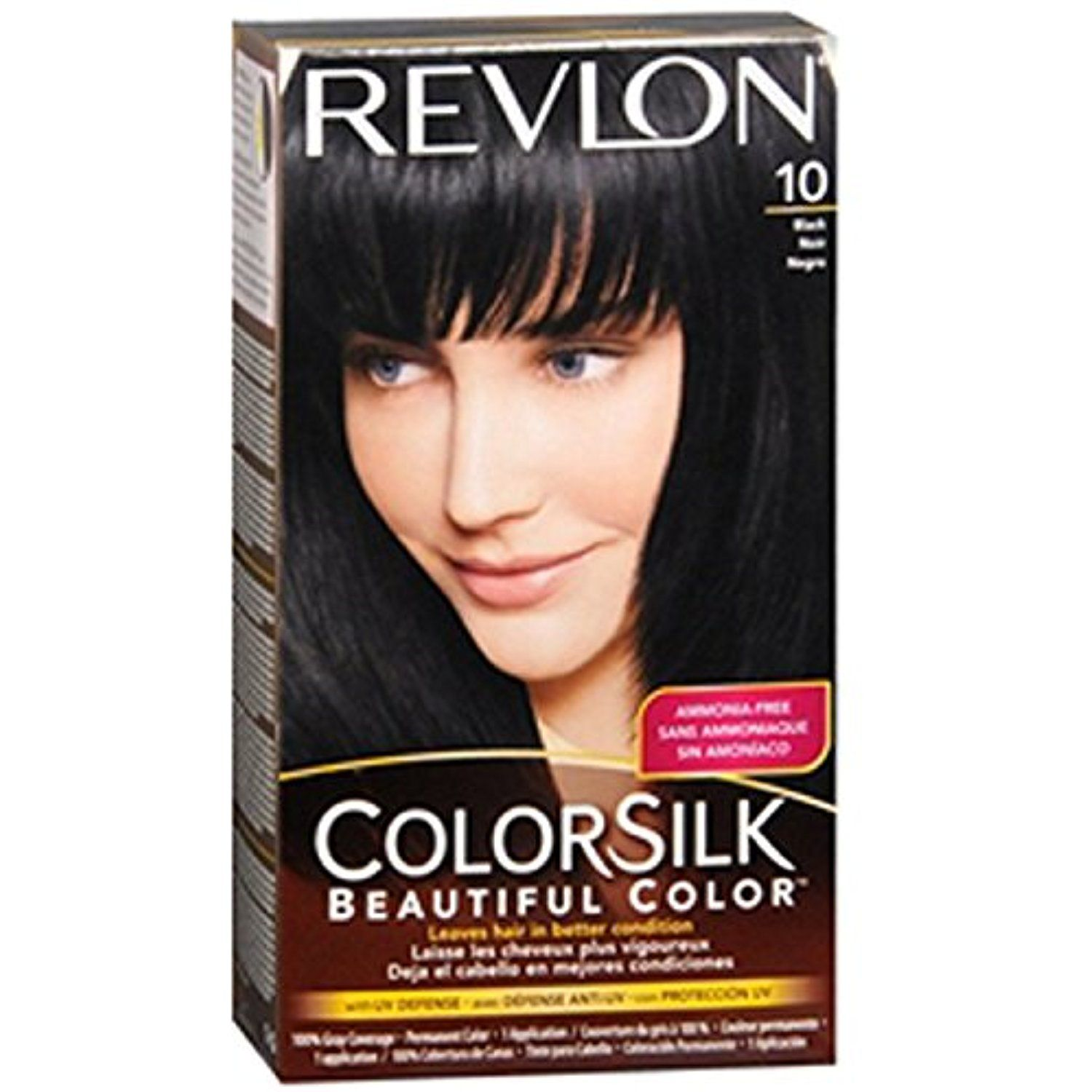 Revlon Colorsilk Beautiful Color Permanent Color Black 10 See