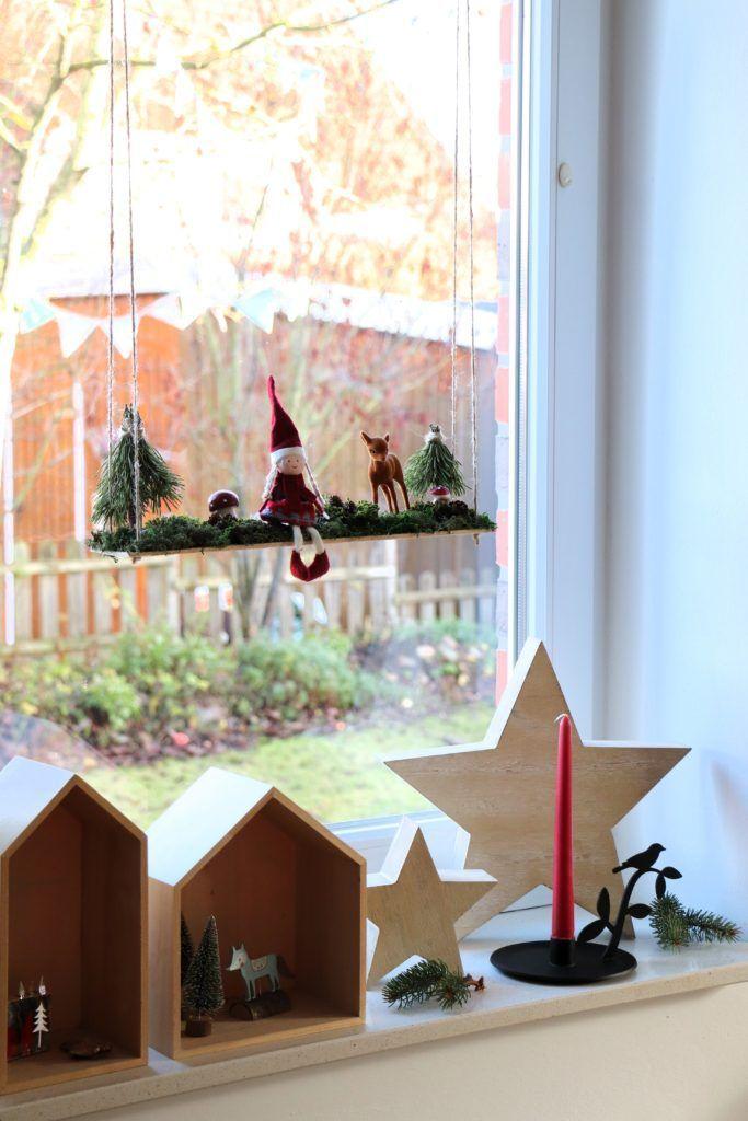 DIY: Wichtelschaukel als weihnachtliche Fensterdeko - Lavendelblog