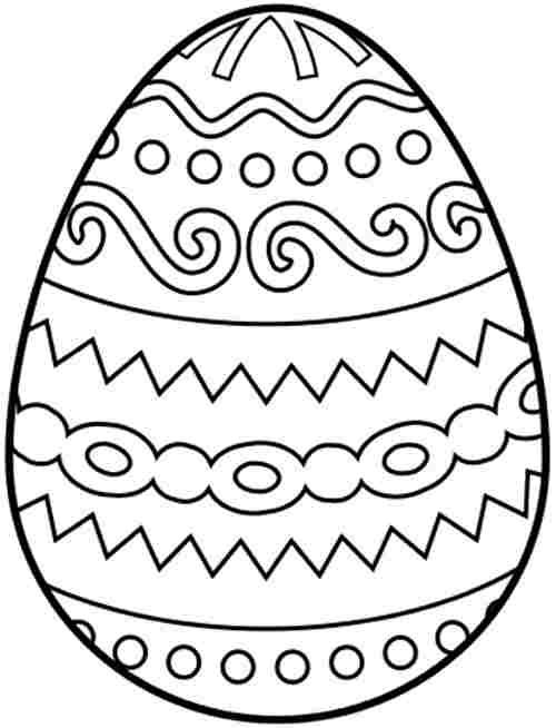 printable free colouring pages easter egg for kindergarten - Easter Egg Printables