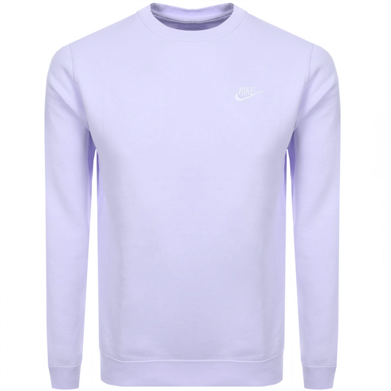 Nike Crew Neck Club Sweatshirt Purple Nike Cloth Club Sweatshirts Nike Crew Neck Sweatshirts [ 3000 x 3000 Pixel ]